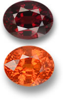 Pyrope (top) and Spessartite (bottom) Garnets