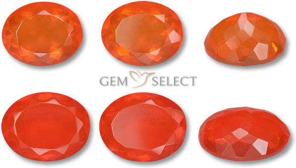 A Photo of Fire Opal Gemstones from GemSelect