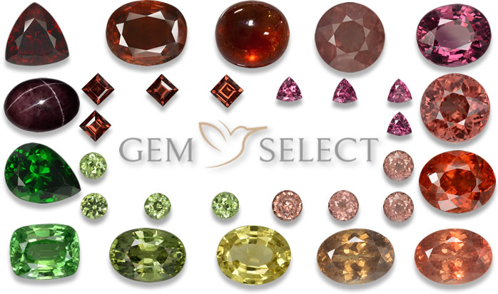Garnet Gemstone Colors - Large Image