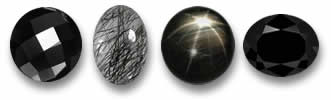 Natural Black Gemstones at GemSelect
