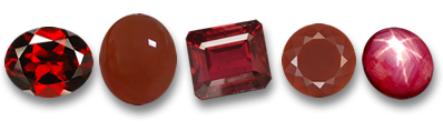 Natural Red Gemstones