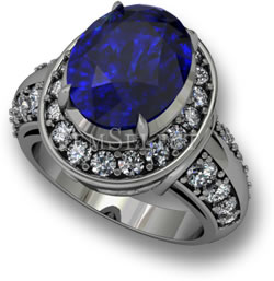 GemSelect Tanzanite Engagement Ring Design