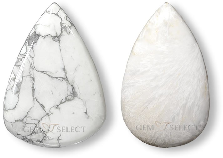 Two White Gemstones from GemSelect