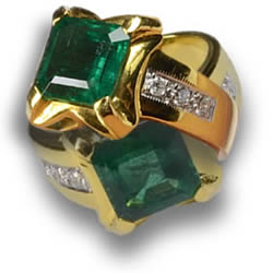 Emerald Rings with Diamond Accents