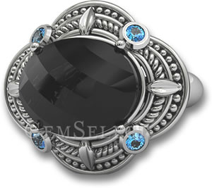Black Spinel Thai Silver Ring