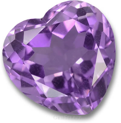 Heart-Shaped Amethyst Gemstone