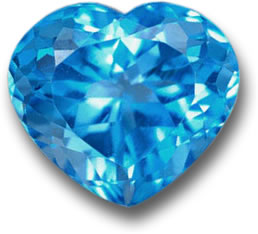 Natural Blue Topaz Heart