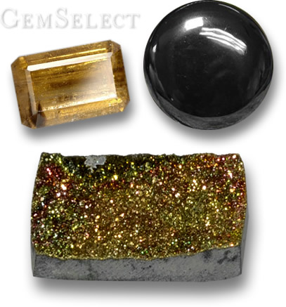 Cassiterite, Hematite & Rainbow Pyrite - Gems With a High Specific Gravity