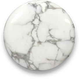 White howlite gemstone