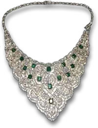 Imelda Marcos's Diamond and Emerald Necklace