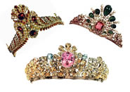 Gemstones set in tiaras