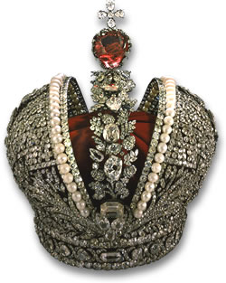The Imperial Russian Crown - Diamonds, Pearls and Red Spinel