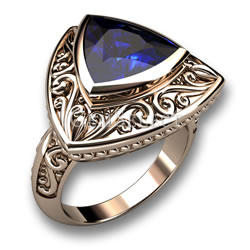 Iolite Trillion Ring from GemSelect