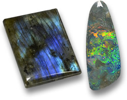 Labradorite and Opal Gemstones