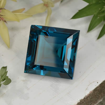 Irradiated Blue Topaz Gemstone