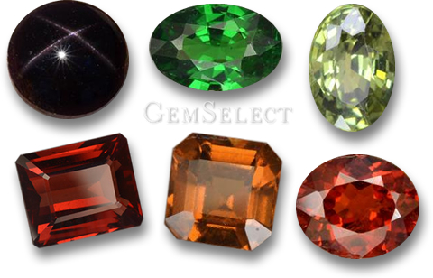 January Birthstones - Garnet gems