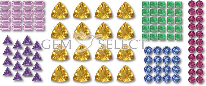 Calibrated Gemstone Lots for Jewelers