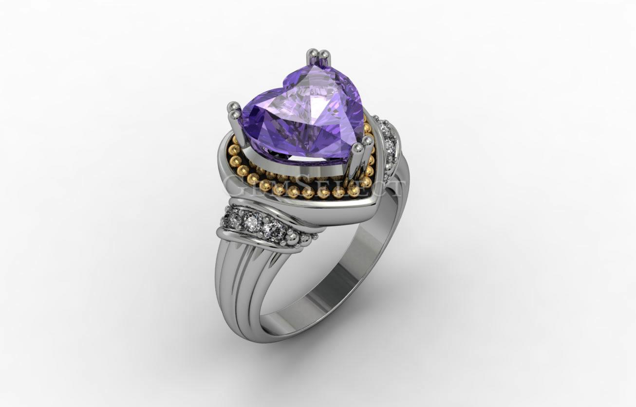 Amethyst Rings Natural Amethyst Gemstone Jewelry