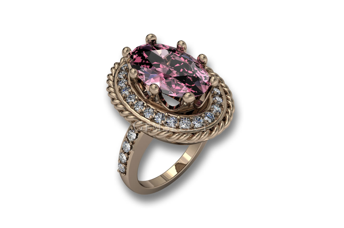 Morganite Rings Natural Morganite Gemstone Jewelry
