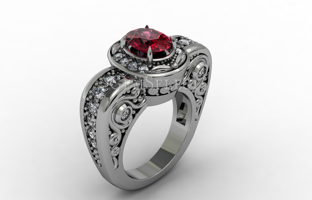 cocktail lyst garnet ring hall rhodolite in jewelry product pink dinny rings