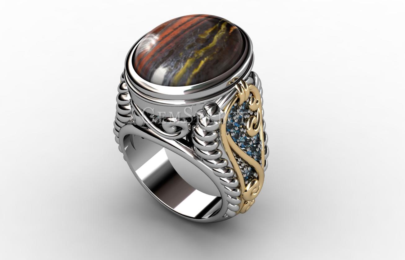 Tiger's Eye Matrix Rings Natural Gemstone Jewelry. Hoop Rings. Gold 2015 Engagement Rings. Recycled Rings. Wood Grain Engagement Rings. Jade Jewelry Wedding Rings. Olivine Rings. Vivid Rings. Twist Engagement Rings