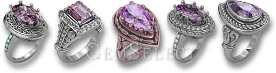 Kunzite Rings by GemSelect
