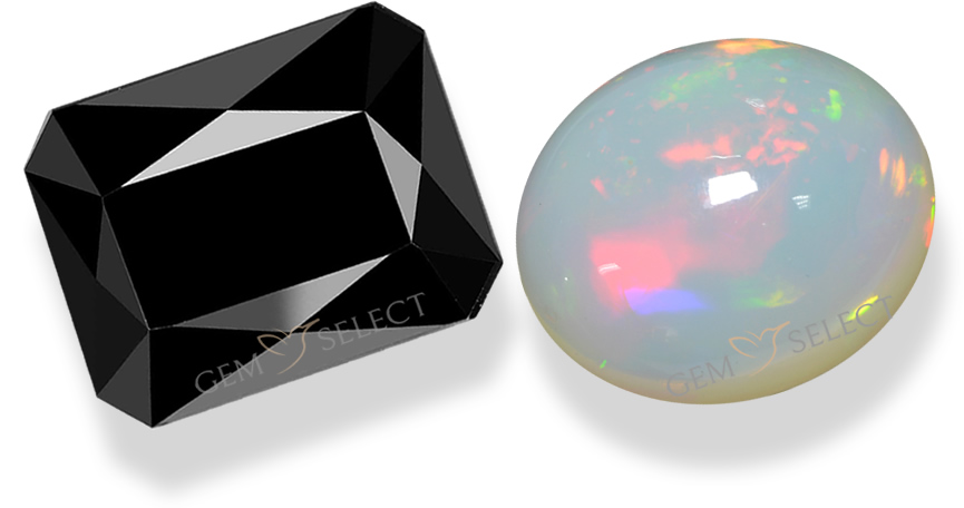 Opal and Tourmaline Gemstones from GemSelect - Large Image