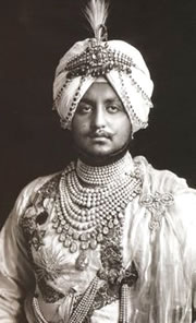 Maharajah Bhupinder Singh of Patiala in Dazzling Diamonds and Pearls