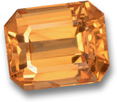 Orange Spessartite Garnet Gemstone