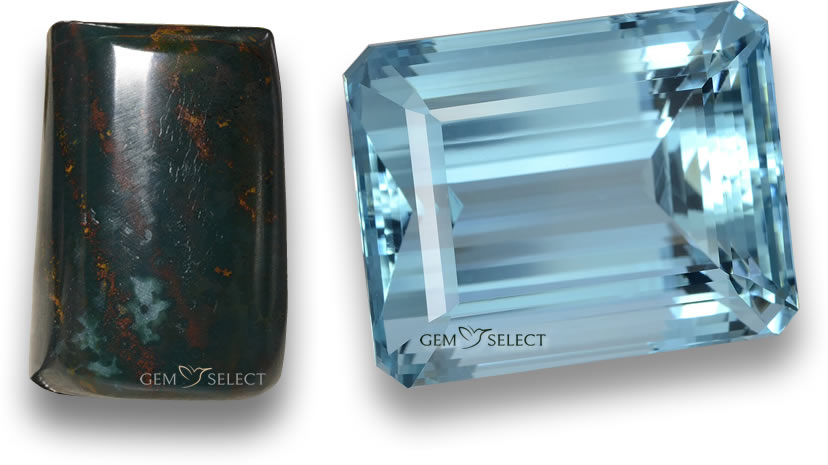 March Birthstone Gemstones from GemSelect - Large Image