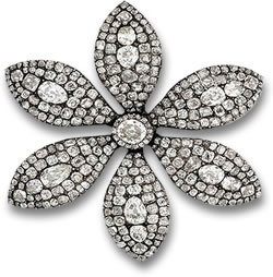 Diamond Flower Brooch Replica