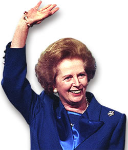 Margaret Thatcher in her Pearls