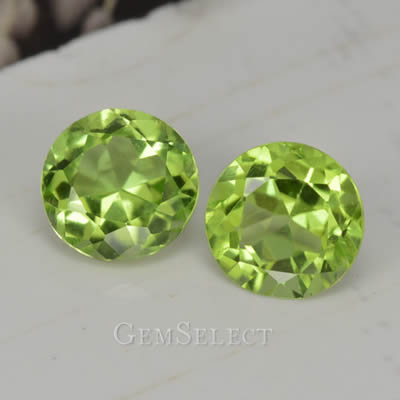 Matched Peridot Pair