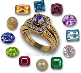 Modern Birthstone List from GemSelect - Large Image