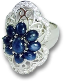 """Modern Vintage"" Sapphire Cabochon Ring"