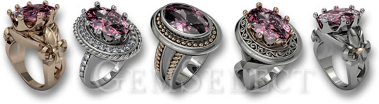 GemSelect Morganite Rings