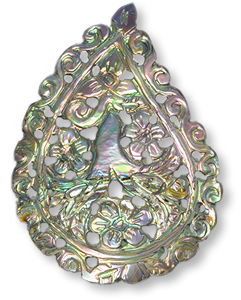 Multicolor mother of pearl gemstone