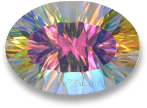Multicolor mystic quartz gemstone