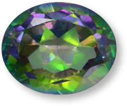 Multicolor mystic topaz gemstone