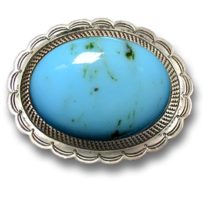 Turquoise and Silver Buckle