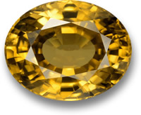 22-Carat Golden Zircon Gemstone