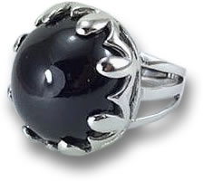 Onyx and Silver Cocktail Ring
