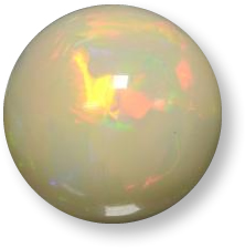 Multicolor opal gemstone