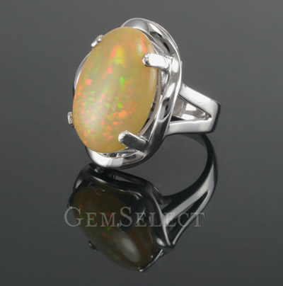 Silver Opal Ring from GemSelect