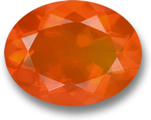 Orange Fire Opal Gemstone