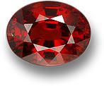Deep Orange-Red Oval Spessartite Garnet