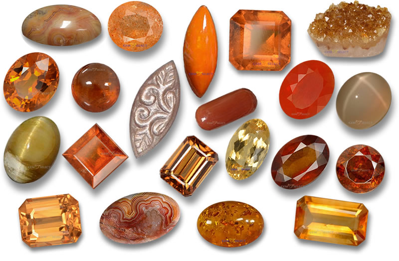 Orange Gemstones from GemSelect - Large Image