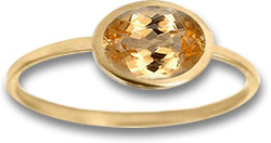 Oval Imperial Topaz Solitaire Ring