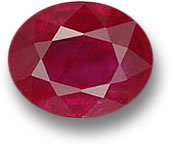 Oval Faceted Ruby