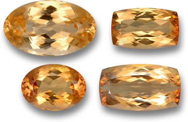 Peach Imperial Topaz Gemstones